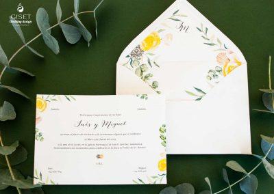 giset wedding invitaciones de boda personalizadas invitaciones de boda flores en acuarela