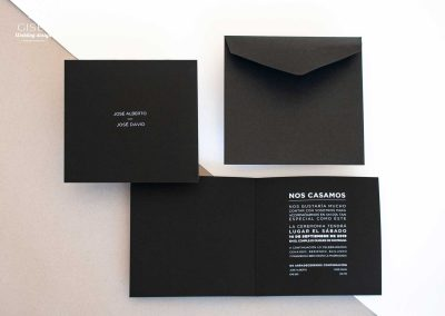 giset wedding invitaciones de boda personalizadas invitaciones de boda minimalistas en negro