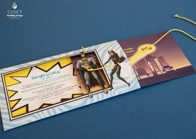 giset wedding invitaciones de boda personalizadas invitaciones de boda superheroes batman catwoman