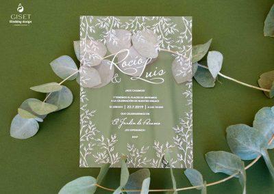 giset wedding invitaciones de boda personalizadas invitaciones de boda transparentes metacrilato hojas
