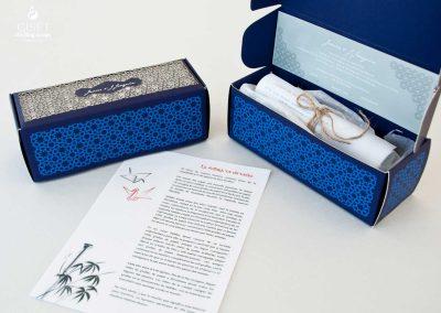 giset wedding invitaciones de boda personalizadas__invitacion en cajita troquelada con pergamino