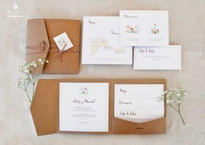 giset wedding invitaciones de boda personalizadas__invitaciones de boda en carpeta kraft