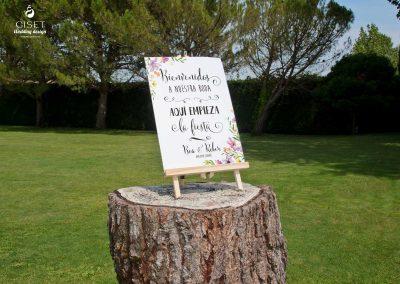 giset wedding invitaciones de boda personalizadas_cartel de bienvenida con flores personalizado