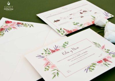 giset wedding invitaciones de boda personalizadas_invitacion de boda con flores