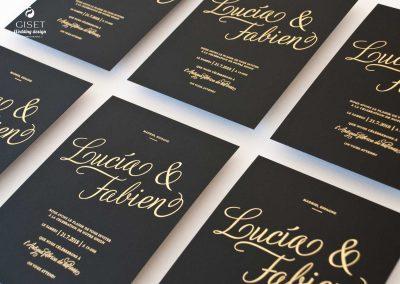 giset wedding invitaciones de boda personalizadas_invitacion de boda con oro negra 2