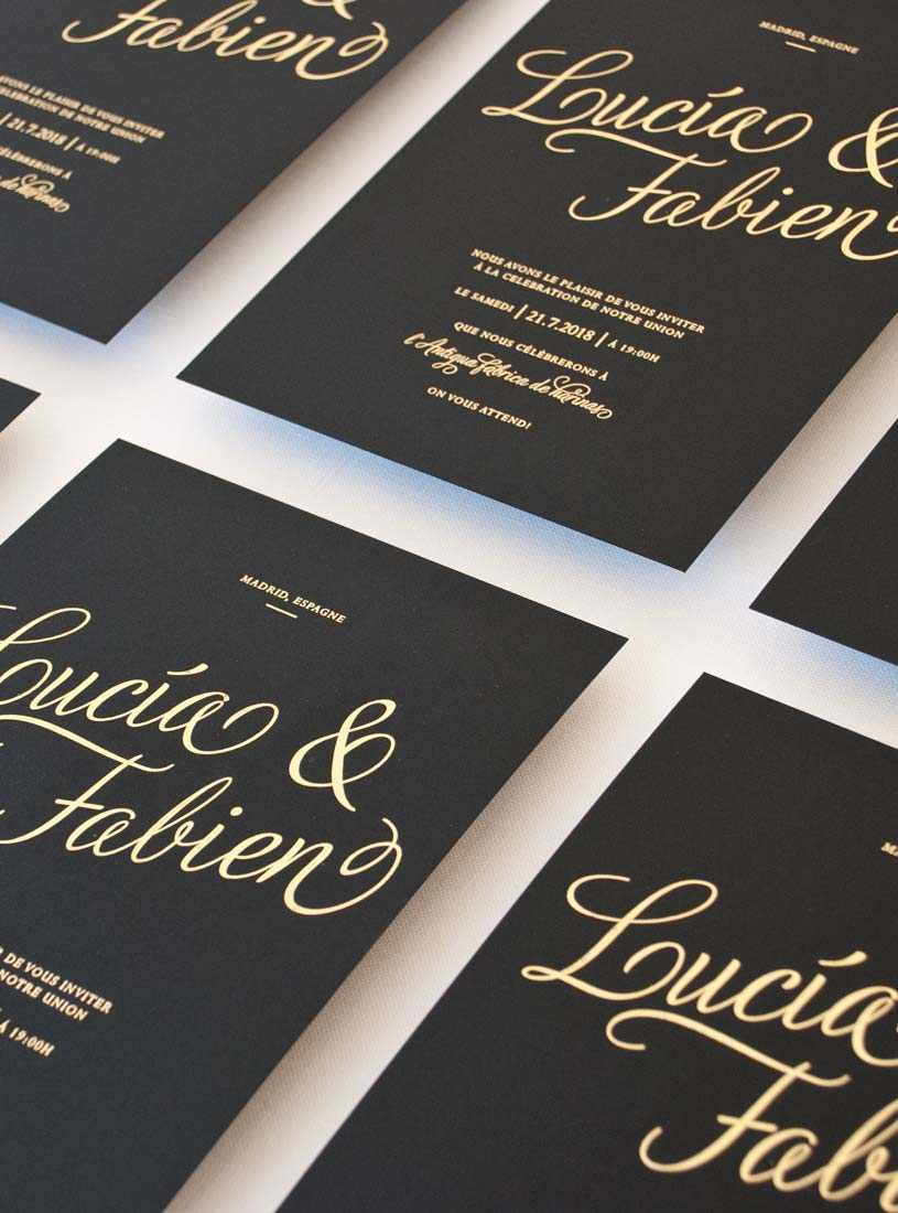 giset wedding invitaciones de boda personalizadas invitacion de boda con oro negra