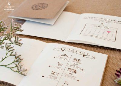 giset wedding invitaciones de boda personalizadas_invitacion en kraft formato libreta