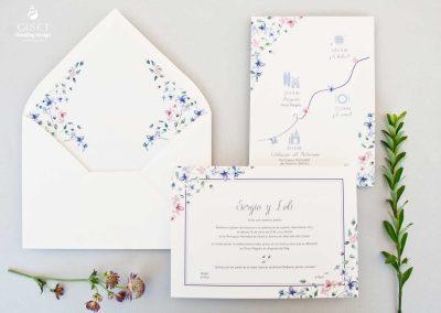 giset wedding invitaciones de boda personalizadas_invitaciones de boda clasicas con flores en acuarela 2