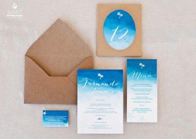 giset wedding invitacione de boda personalizadas invitaciones de boda en acuarela estilo marinero