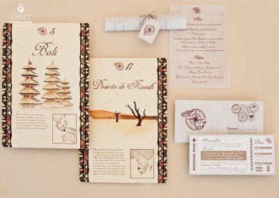 giset wedding invitaciones de boda personalizadas_invitaciones de boda viajeras