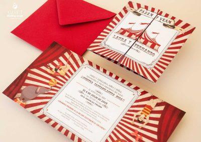 giset wedding invitaciones de boda personalizadas_invitaciones tematica circo