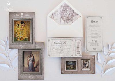 giset wedding invitaciones de boda personalizadas_invitaciones tematica museo