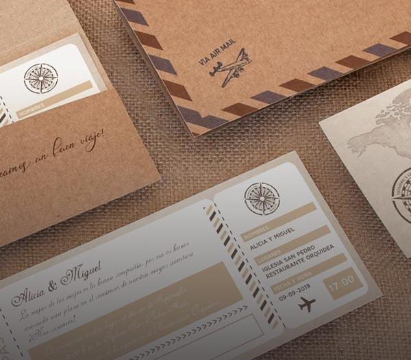 giset wedding invitaciones de boda viajes