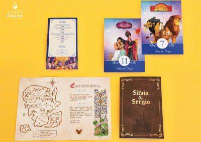 giset wedding papeleria de boda personalizadas invitaciones de boda disney