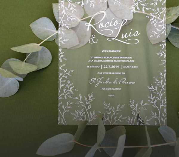 giset wedding invitaciones de boda transparentes