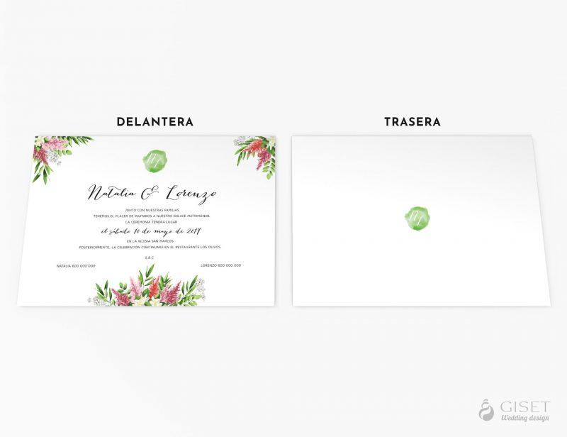 invitaciones de boda clasicas con flores giset wedding