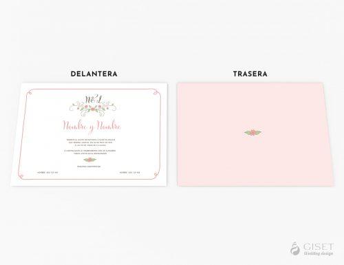 invitaciones de boda con detalles florales giset wedding