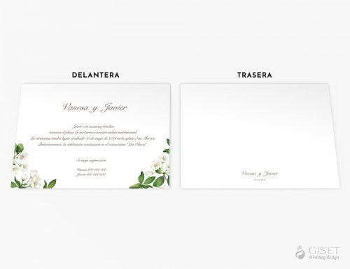 invitaciones de boda con flores blancas giset wedding