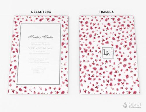 invitaciones de boda con flores giset wedding