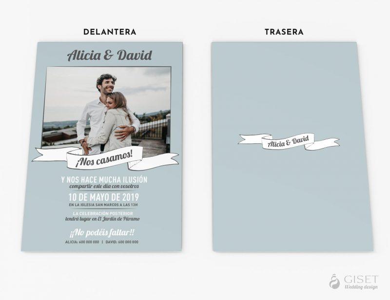 invitaciones de boda con foto giset wedding