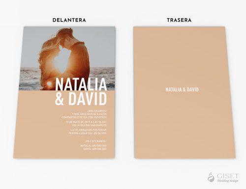 invitaciones de boda con foto minimalistas giset wedding