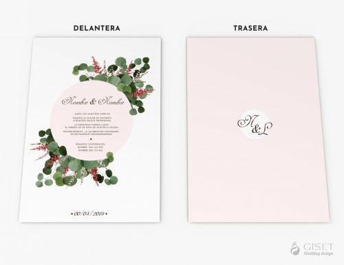 invitaciones de boda con hojas de eucalipto giset wedding 3