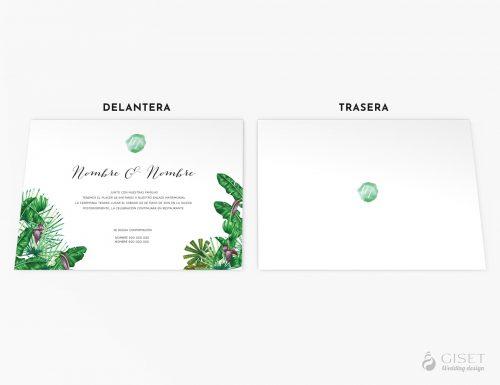 invitaciones de boda con hojas tropicales giset wedding 2