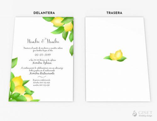 invitaciones de boda con limones giset wedding