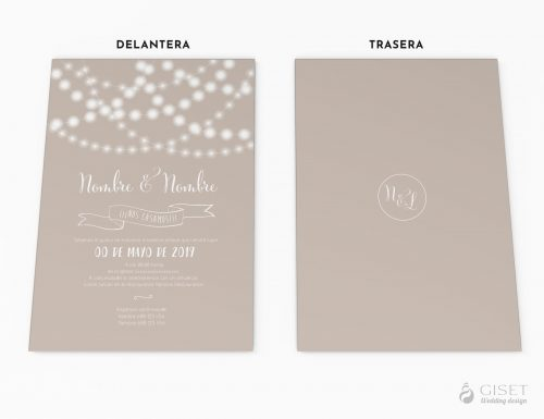 invitaciones de boda con luces giset wedding