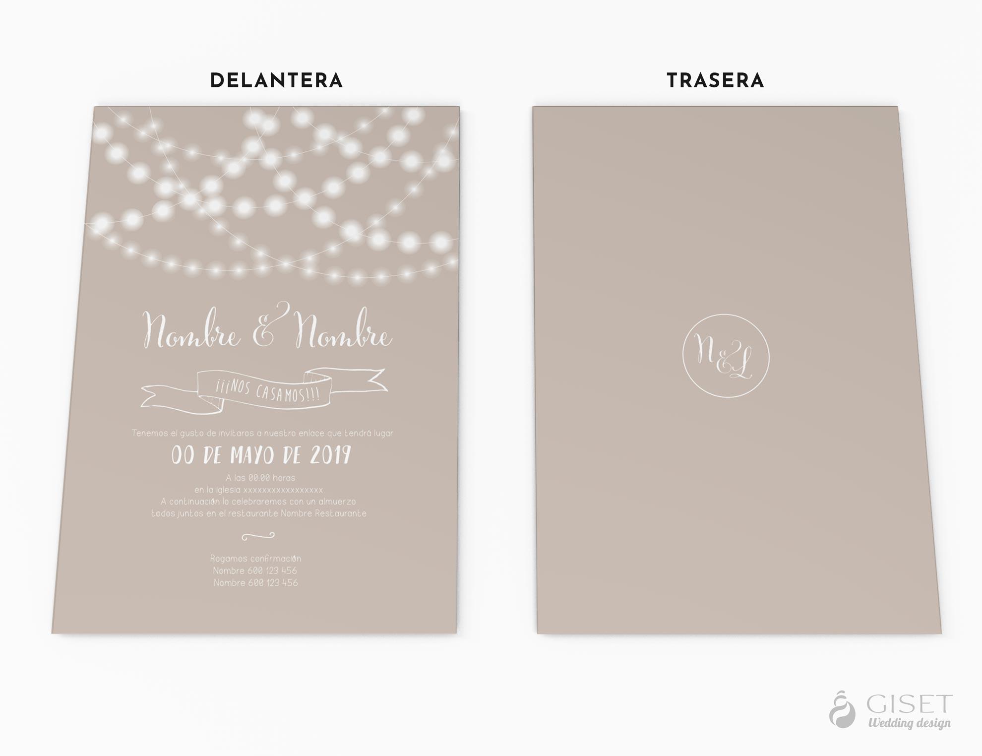 invitaciones de boda con luces giset wedding