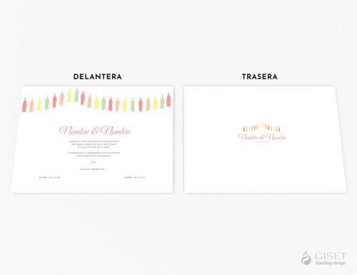 invitaciones de boda con pompones giset wedding