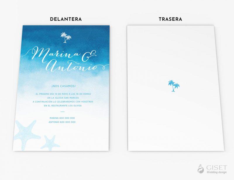 invitaciones de boda en acuarela estilo marinero giset wedding 76