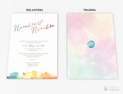 invitaciones de boda en acuarela giset wedding