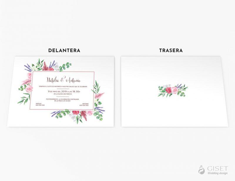 invitaciones de boda flores en acuarela giset wedding