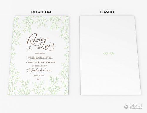 invitaciones de boda modernas con hojas giset wedding