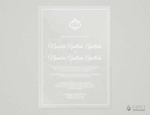 invitaciones de boda transparentes clasicas Giset Wedding