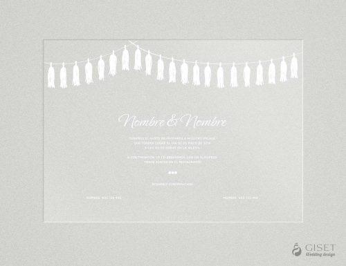 invitaciones de boda transparentes con guirnaldas Giset Wedding