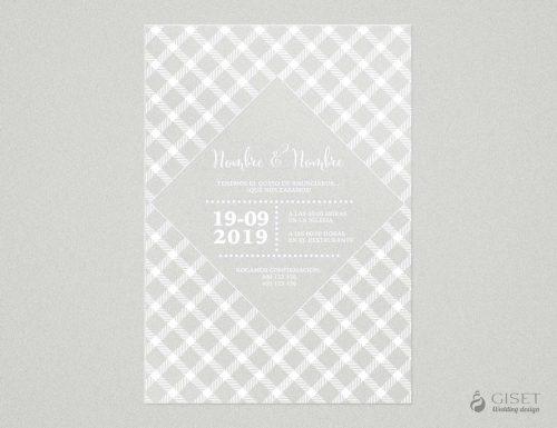 invitaciones de boda transparentes cuadros vichy Giset Wedding