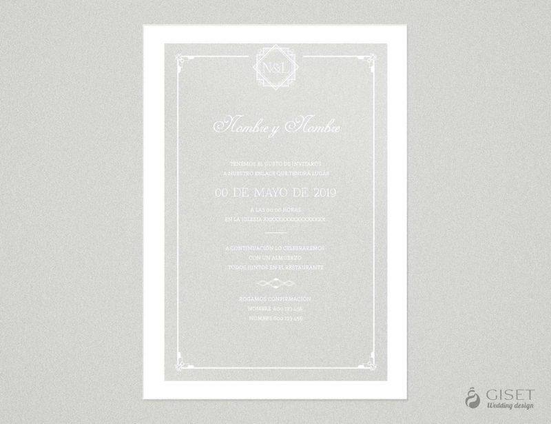 invitaciones de boda transparentes estilo gatsby Giset Wedding