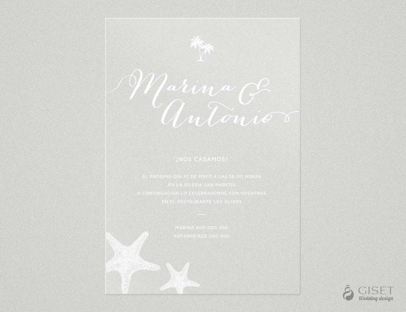 invitaciones de boda transparentes estilo marinero Giset Wedding 76