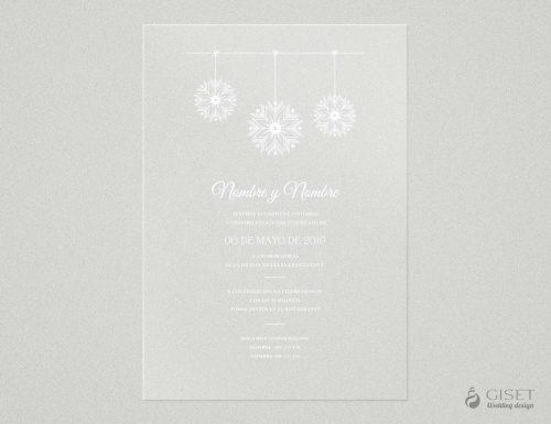 invitaciones de boda transparentes invernales Giset Wedding