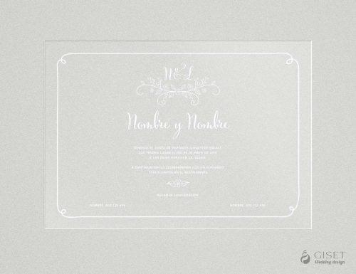 invitaciones de boda transparentes sencillas con detalles de flores Giset Wedding