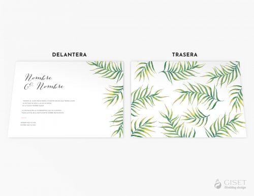 invitaciones de boda tropicales giset wedding