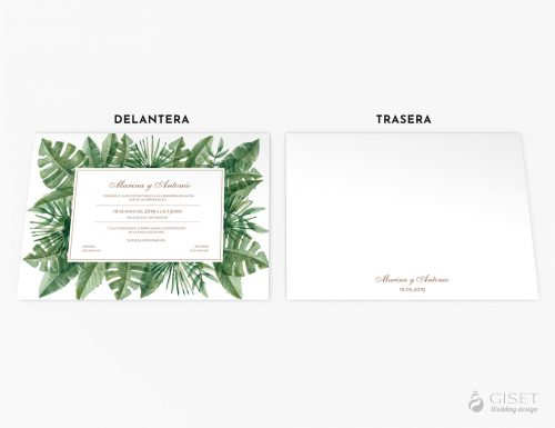 invitaciones de boda tropicales giset wedding