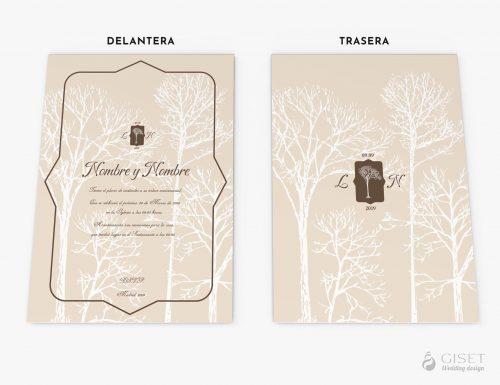 invitaciones de boda vintage otoñales giset wedding