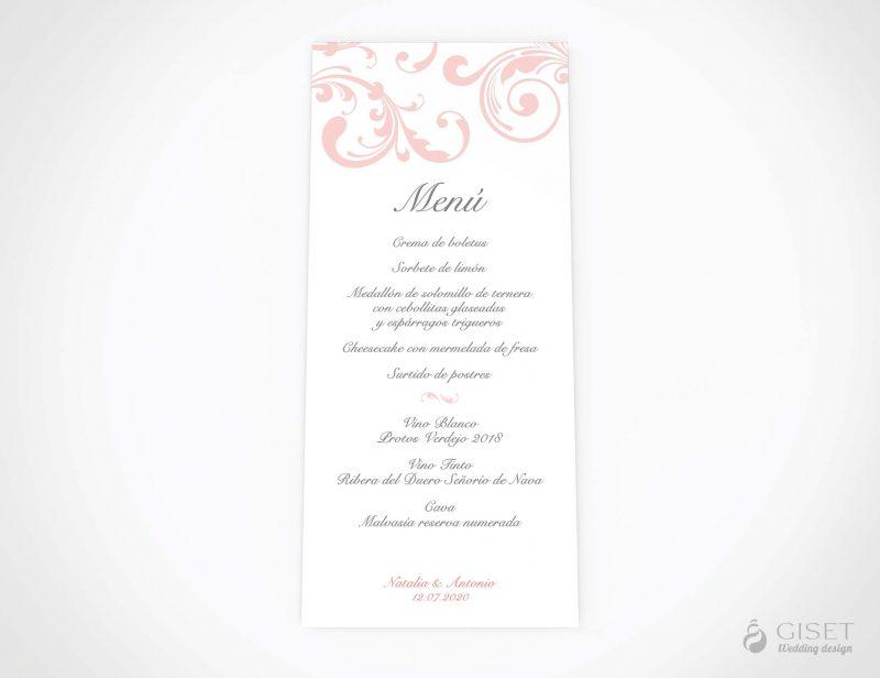 menu minuta boda clasico giset wedding