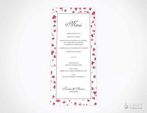menu minuta boda flores giset wedding