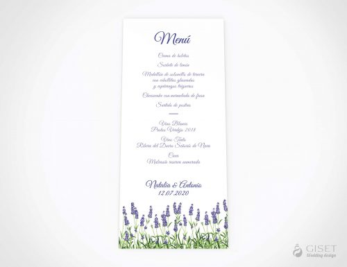 menu minuta boda lavanda giset wedding