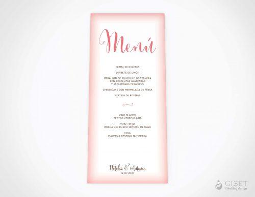 menu minuta boda sencillo giset wedding