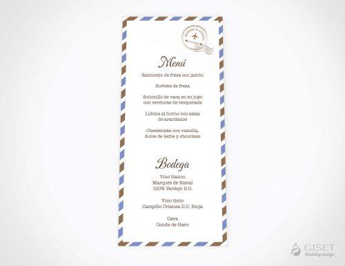 menu minuta boda viajero giset wedding